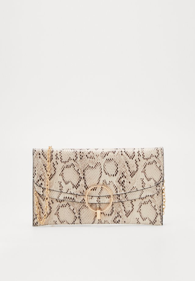 REESE SNAKE RING DETAIL - Clutch - brown