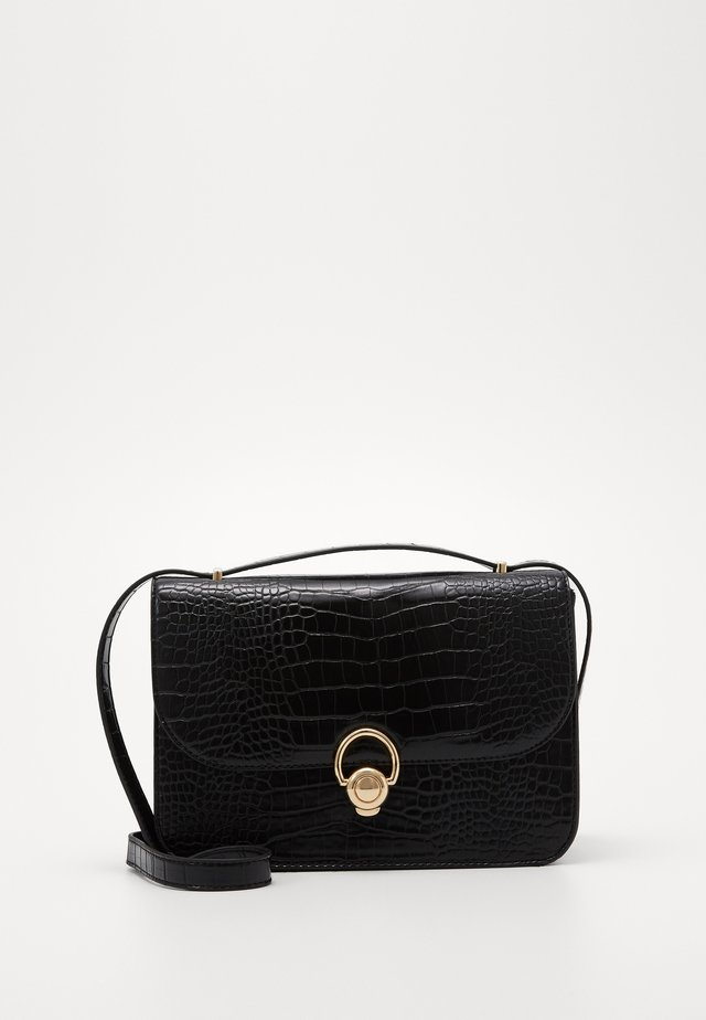 ETTA STURCTURED SHOULDER BAG - Schoudertas - black