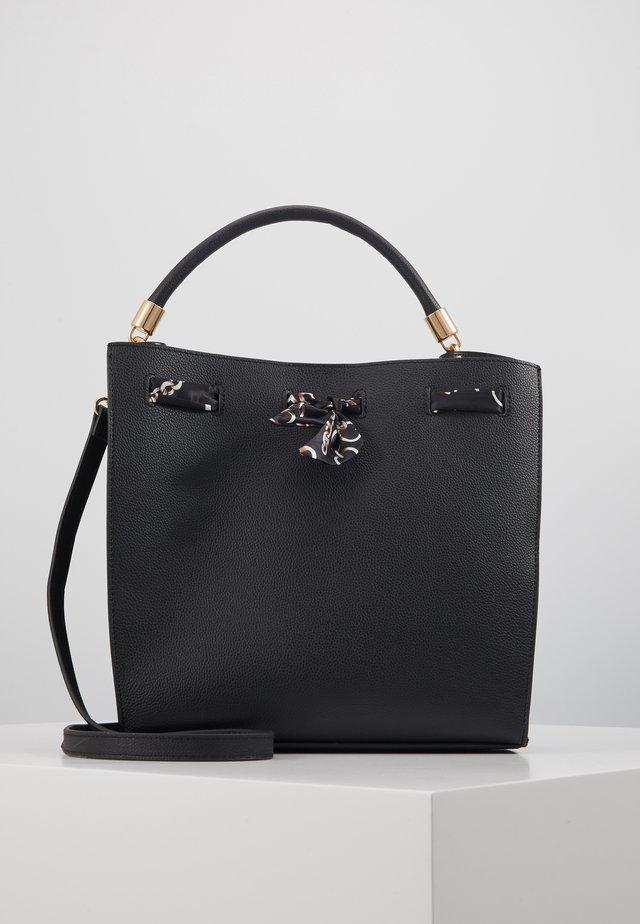 SPARROW SCARF DETAIL TOTE - Handtasche - black