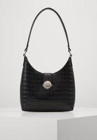 New Look - GEORGIA CROC SHOULDER BAG - Kabelka - black - 0