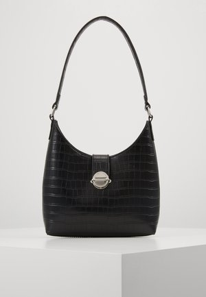 GEORGIA CROC SHOULDER BAG - Handtas - black