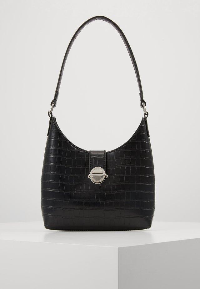 GEORGIA CROC SHOULDER BAG - Handbag - black