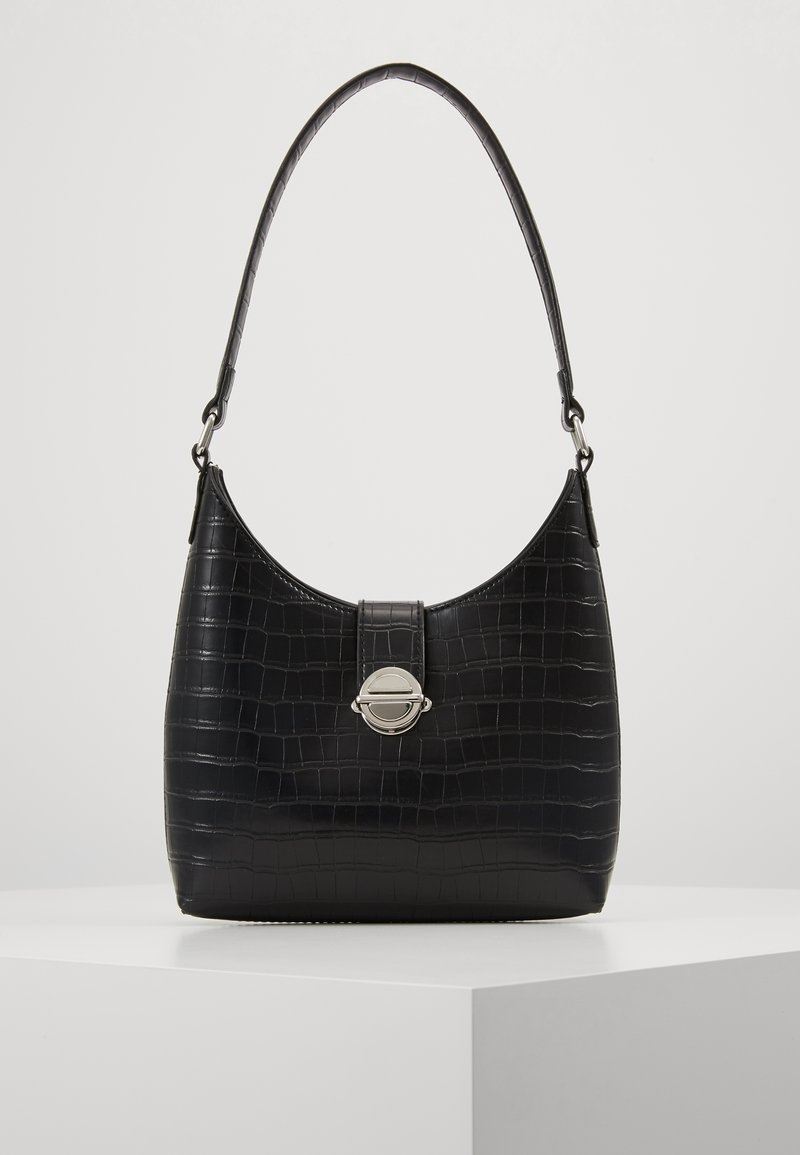 New Look - GEORGIA CROC SHOULDER BAG - Kabelka - black