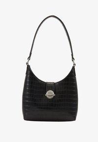 New Look - GEORGIA CROC SHOULDER BAG - Kabelka - black - 1