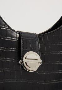 New Look - GEORGIA CROC SHOULDER BAG - Kabelka - black - 2