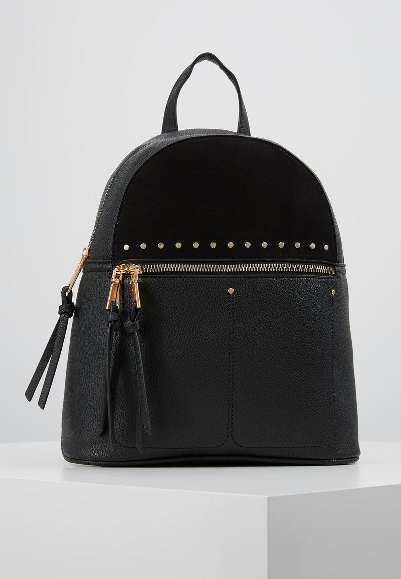 New Look - SID STUDDED ZIP BACKPACK - Reppu - black