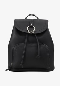 New Look - CLAUDE RING BACKPCK - Tagesrucksack - black - 1