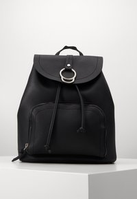 New Look - CLAUDE RING BACKPCK - Tagesrucksack - black - 0