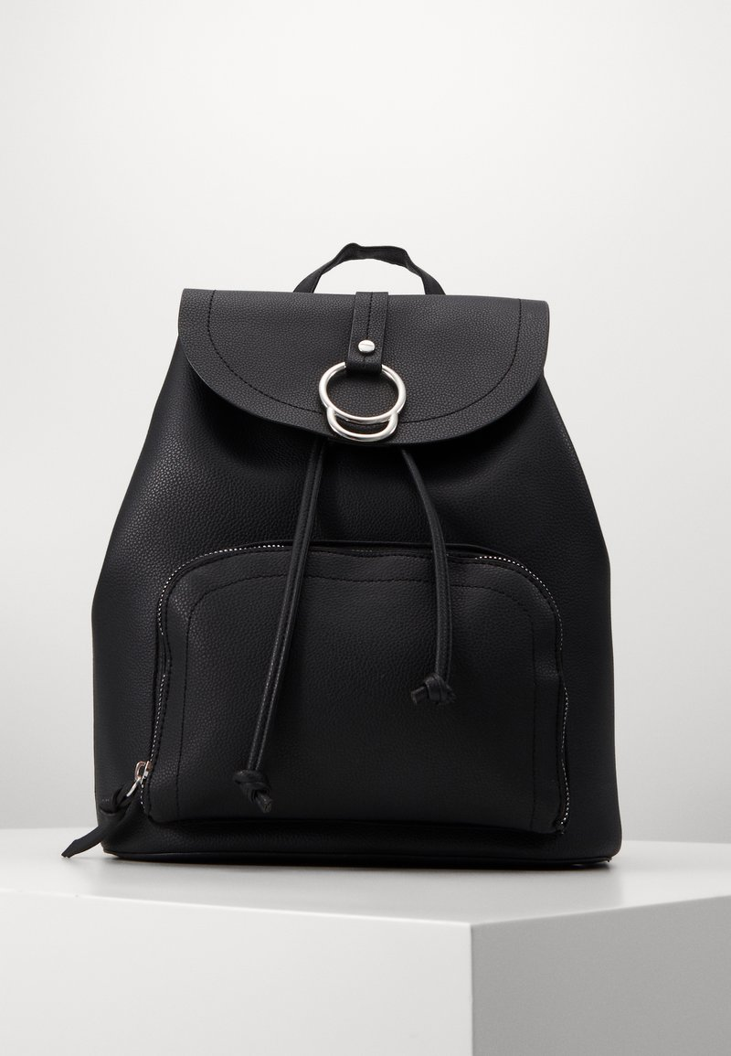 New Look - CLAUDE RING BACKPCK - Tagesrucksack - black