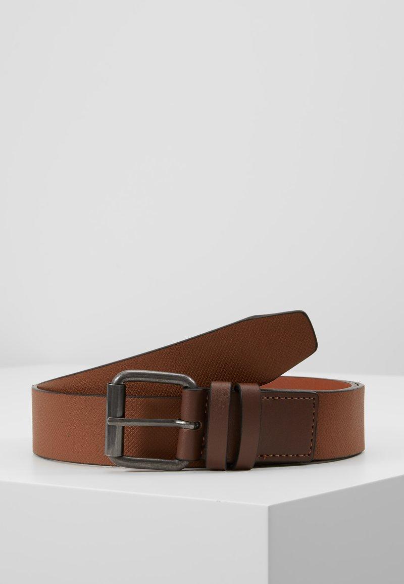 New Look - DOUBLE KEEPER TEXTURE BELT - Cinturón - mid brown