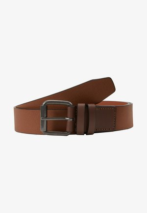DOUBLE KEEPER TEXTURE BELT - Gürtel - mid brown