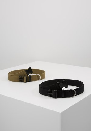 BUCKLE BELT 2 PACK - Skärp - black/dark khaki