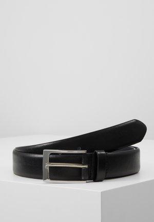 HERRINGBONE BELT - Cinturón - black