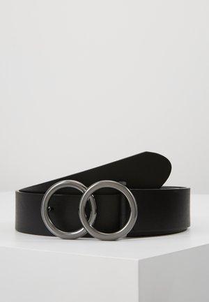 DOUBLE CIRCLE BELT - Cinturón - black