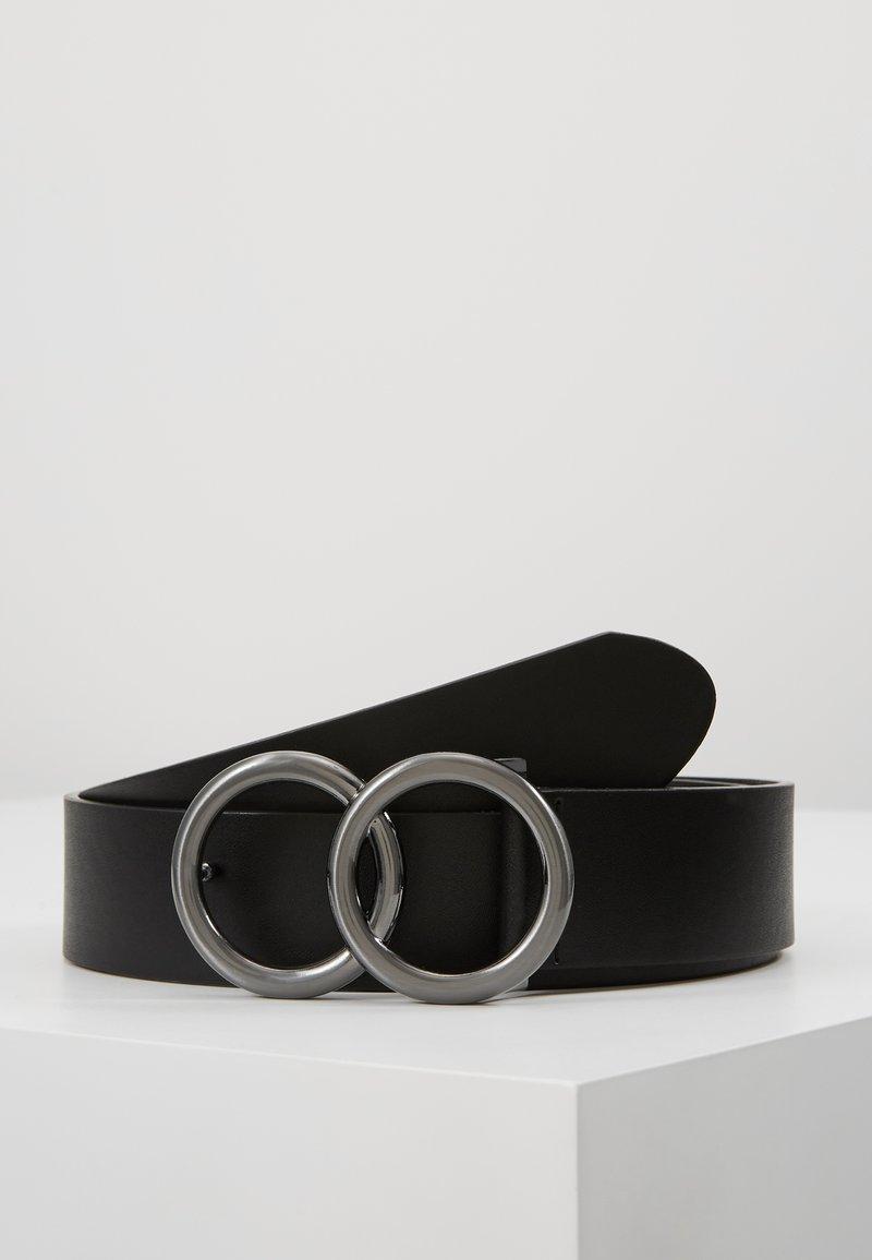 New Look - DOUBLE CIRCLE BELT - Pásek - black
