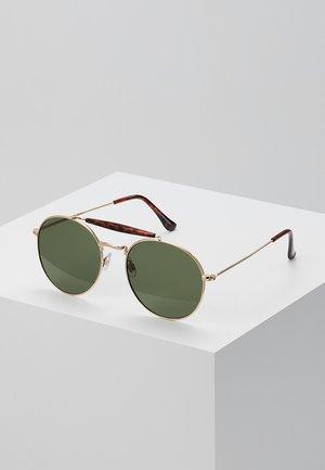 RETRO BAR BROW - Sunglasses - gold-coloured