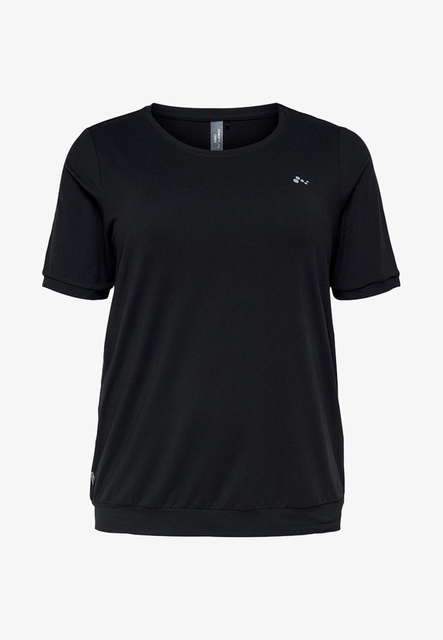 LOCKERE CURVY - T-Shirt basic - black