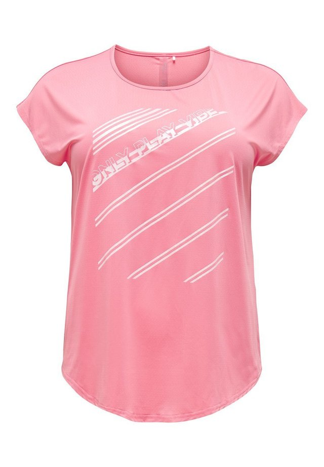 CURVY - T-shirt imprimé - strawberry pink