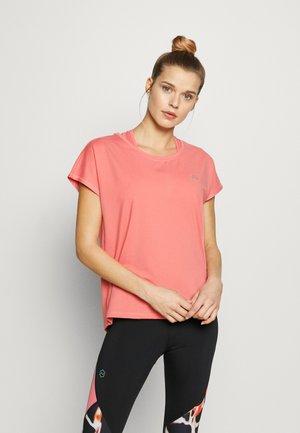 ONPAUBREE  LOOSE TRAINING TEE - Camiseta estampada - strawberry pink