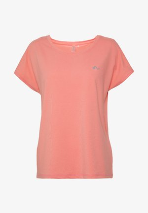 ONPAUBREE  LOOSE TRAINING TEE - T-shirts med print - strawberry pink