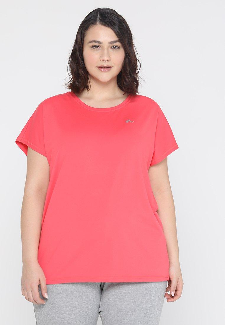 ONLY Play - ONPAUBREE LOOSE TRAINING TEE CURVY - Camiseta básica - paradise pink