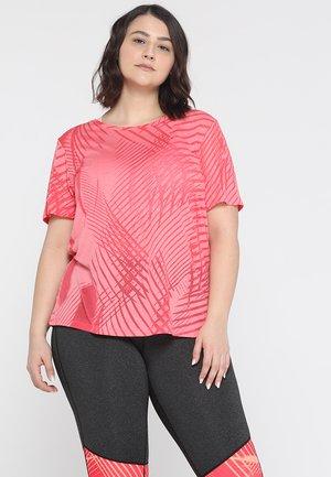 ONPFELICITY REGULAR BURNOUT TEE CURVY - Camiseta básica - paradise pink