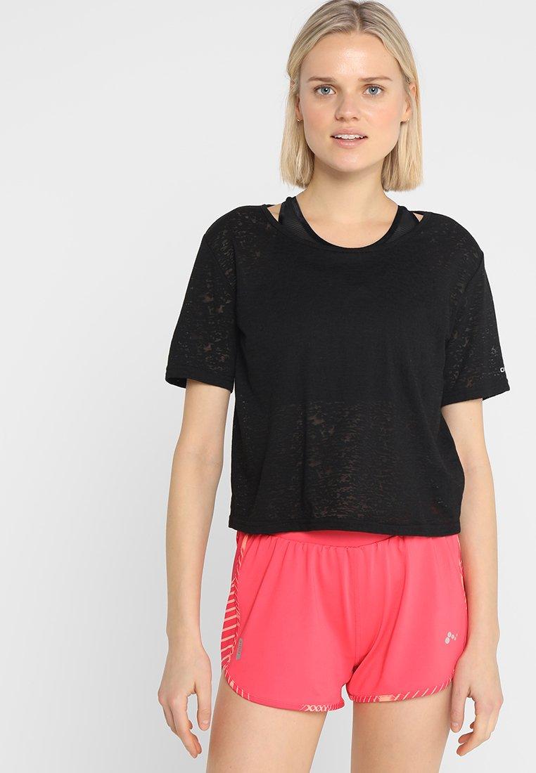 ONLY Play - ONPZOLA BURN OUT SHORT TEE - T-Shirt print - black