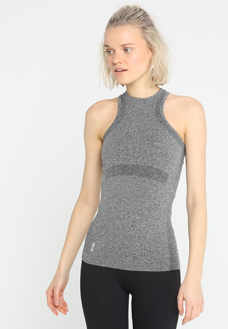 ONLY Play - ONPZELDA CIRCULAR BUILT UP - T-shirt sportiva - dark grey melange