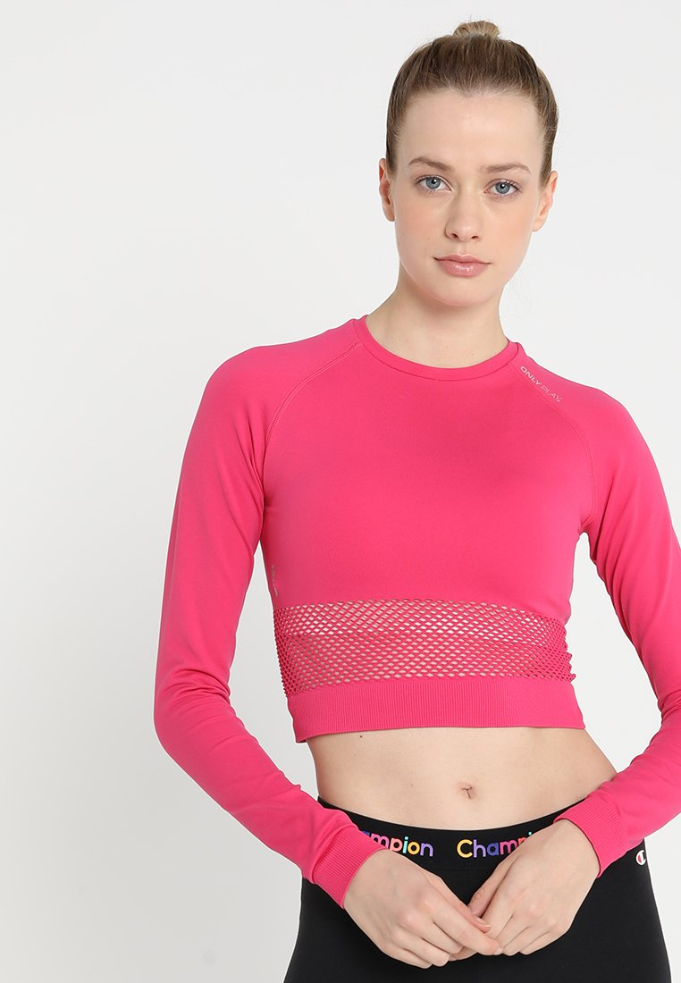 ONLY Play - ONPZALLA CIRCULAR CROP - T-shirt sportiva - cabaret