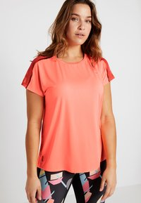 ONLY Play - ONPCALEXIA LOOSE TRAINING TEE - Funktionstrøjer - neon orange/paradise pink - 0