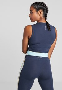 ONLY Play - ONPSPRING CROPPED SOLID  - Top - blue nights/canal blue/amber - 4
