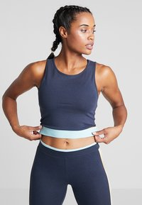 ONLY Play - ONPSPRING CROPPED SOLID  - Top - blue nights/canal blue/amber - 0