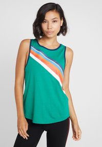 ONLY Play - ONPTANGERINE LOOSE TANK  - Top - greenlake/gibraltar sea/multicolor - 0