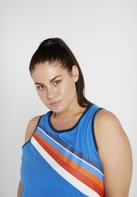 ONLY Play - ONPTANGERINE LOOSE TANK CURVY - Top - french blue/gibraltar sea - 3