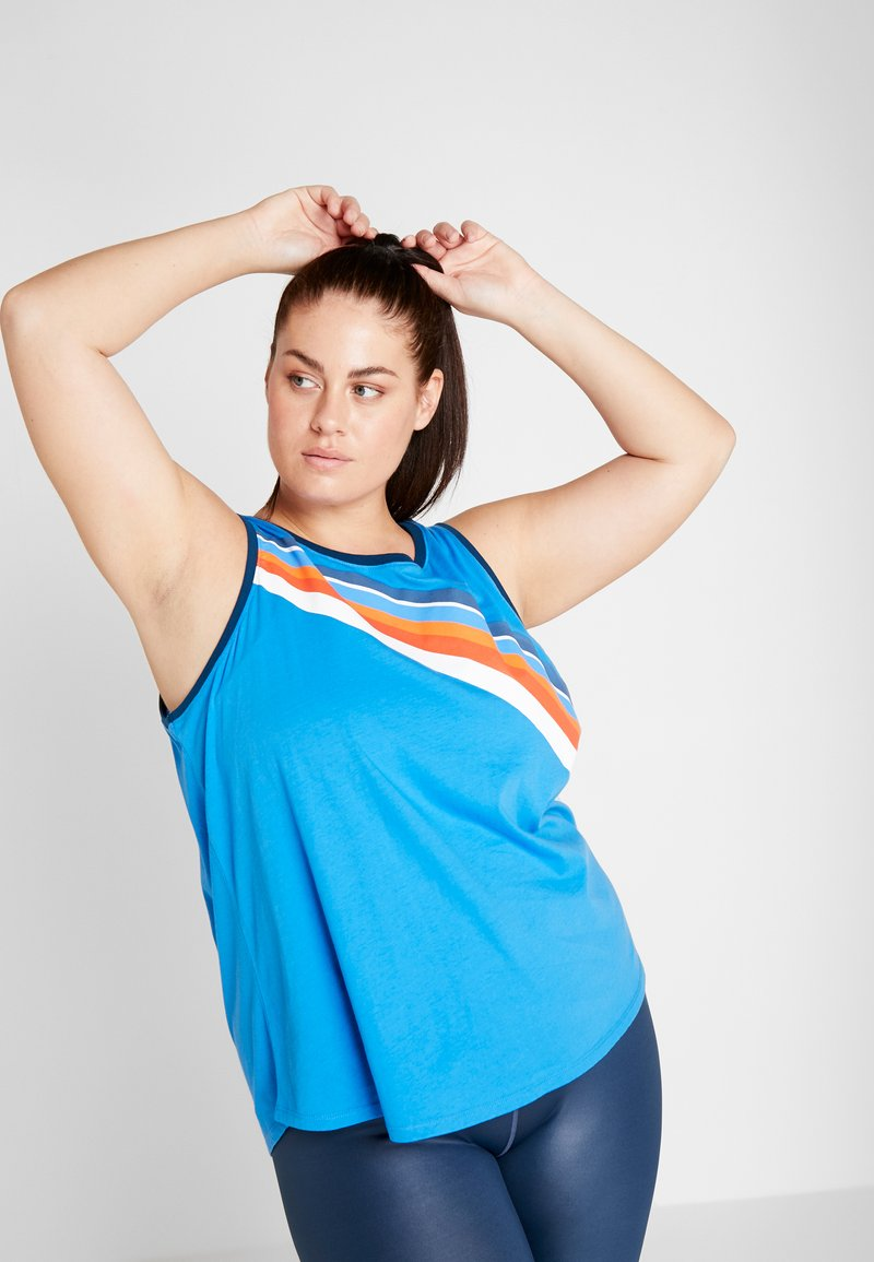 ONLY Play - ONPTANGERINE LOOSE TANK CURVY - Top - french blue/gibraltar sea