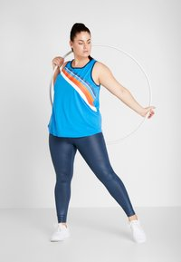 ONLY Play - ONPTANGERINE LOOSE TANK CURVY - Top - french blue/gibraltar sea - 1