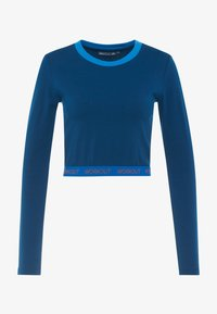 ONLY Play - ONPTANGERINE CROPPED  - Long sleeved top - gibraltar sea/french blue/celo - 4
