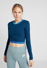 ONLY Play - ONPTANGERINE CROPPED  - Long sleeved top - gibraltar sea/french blue/celo - 0