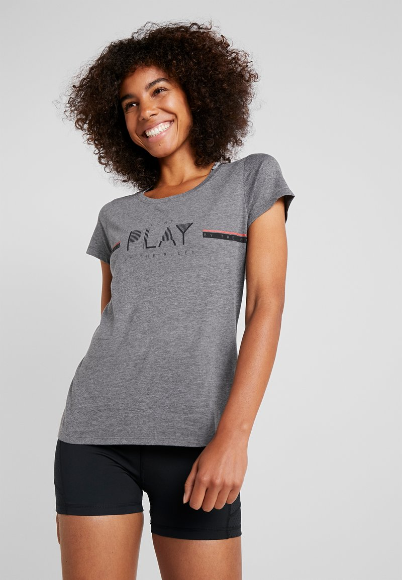 ONLY Play - ONPJANICE REGULAR TEE - T-Shirt print - medium grey melange