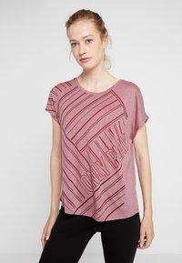 ONLY Play - ONPJONI LOOSE BURNOUT TEE - T-shirt med print - beet red melange - 0