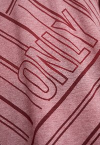 ONLY Play - ONPJONI LOOSE BURNOUT TEE - T-shirt med print - beet red melange - 5