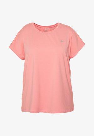 ONPAUBREE TEE CURVY - Camiseta básica - strawberry pink
