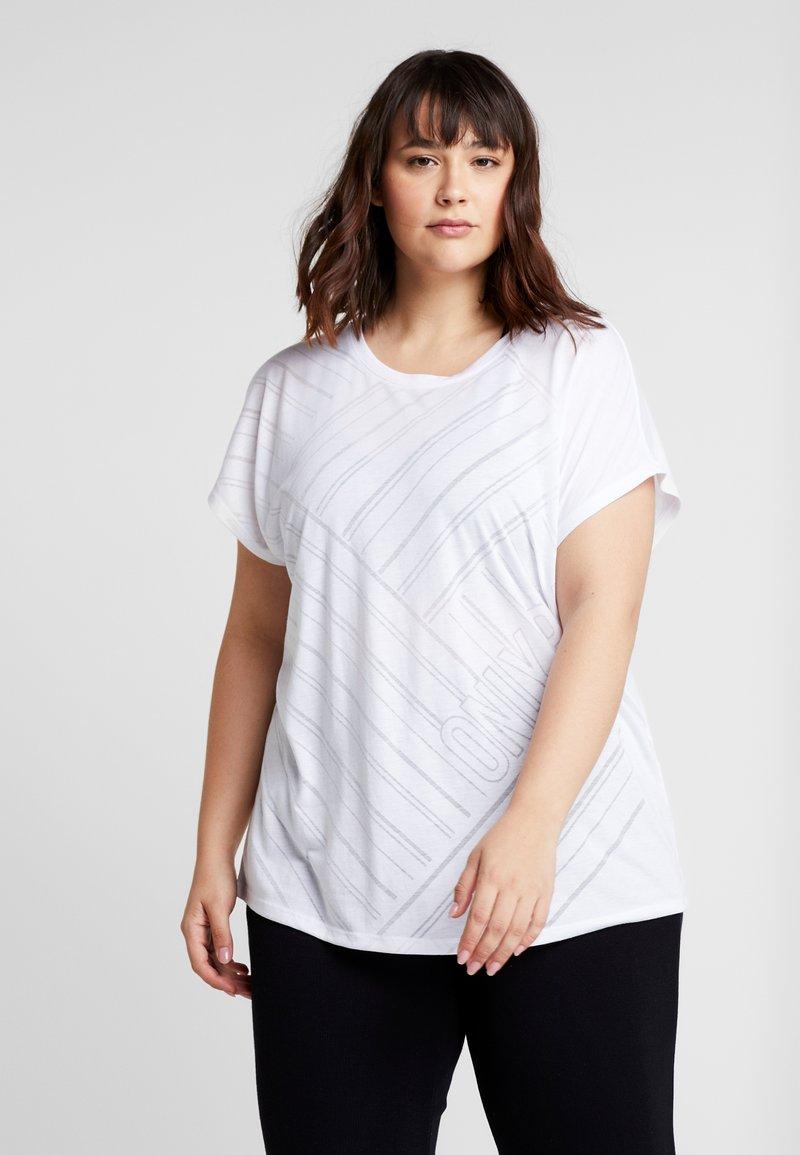 ONLY Play - ONPJONI LOOSE BURNOUT TEE  - T-Shirt print - white