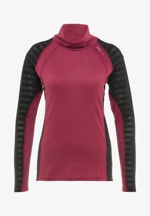 ONPAMELIA TRAINING TEE - T-shirt à manches longues - beet red/melange black