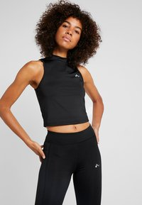 ONLY Play - ONPCANYON TRAINING CROP - Sports shirt - black - 0