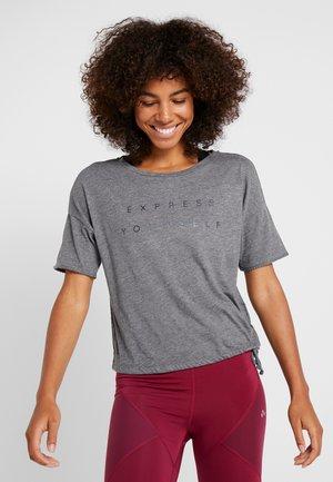 ONPTERRA OVERSIZED SHORT TEE - T-shirts med print - medium grey melange
