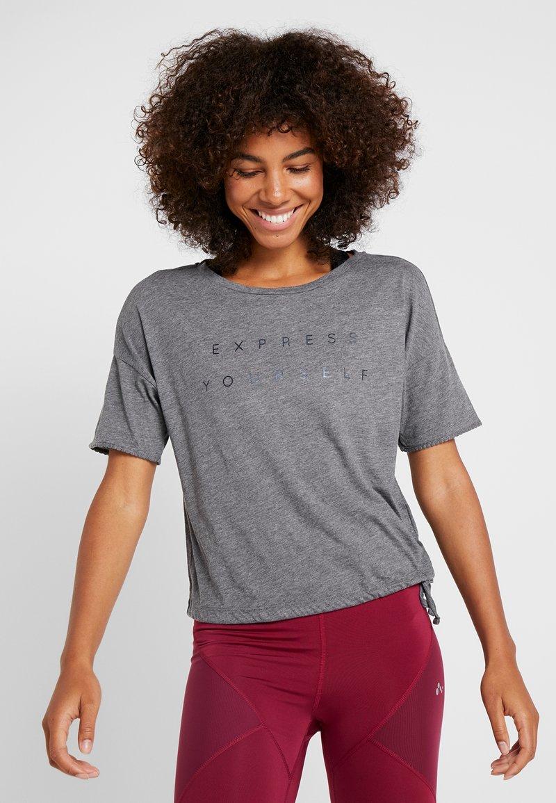 ONLY Play - ONPTERRA OVERSIZED SHORT TEE - T-Shirt print - medium grey melange