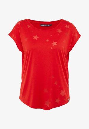 ONPADINE CURVED BURNOUT TEE - T-shirt print - flame scarlet