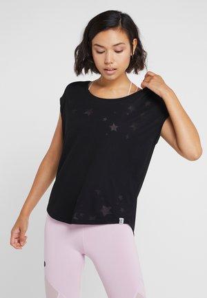 ONPADINE CURVED BURNOUT TEE - T-shirts print - black