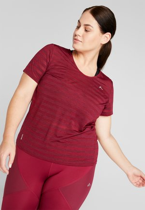 ONPAMELIA TRAINING TEE  - T-shirt print - beet red